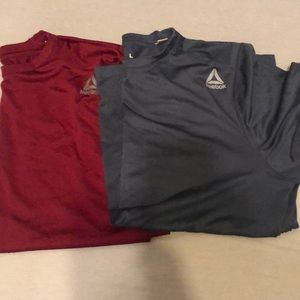 Two Reebok workout shirts